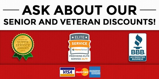 Senior and Veteran Discounts